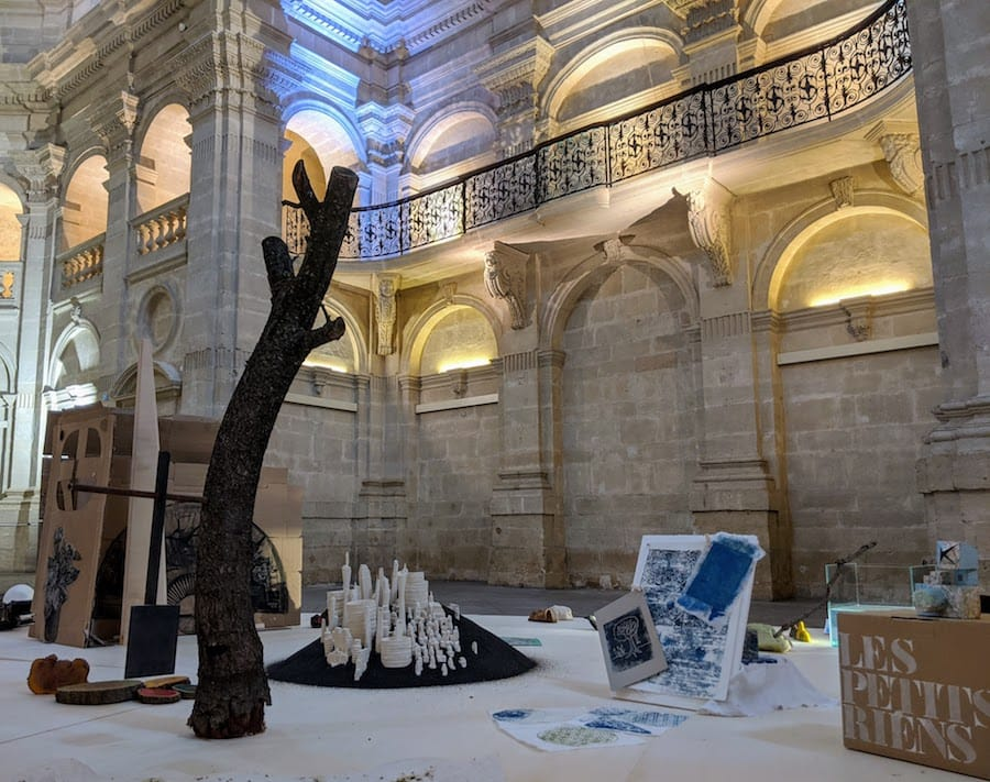 Art Exhibit In A Cathedral In Nimes France
